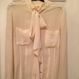 Boss Orange cream translucent blouse